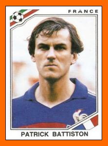 Patrick BATTISTON Panini France 1985